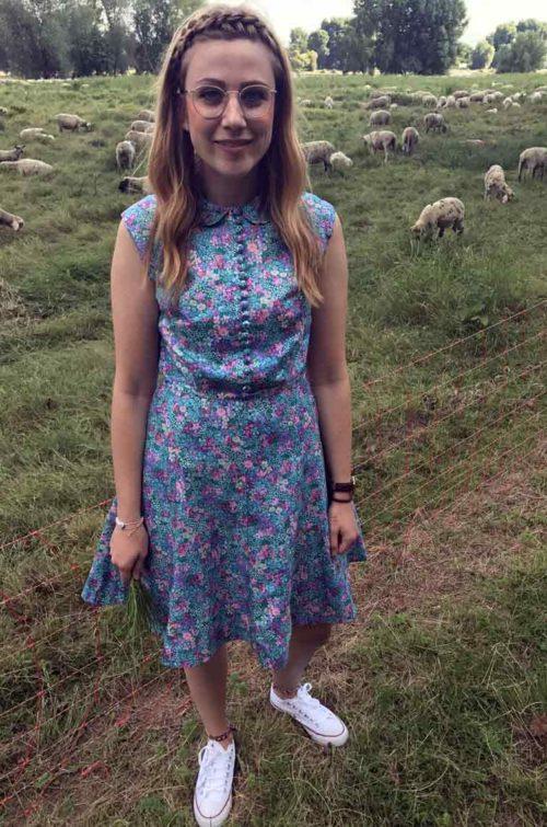 Vintage Kleid kurzarm