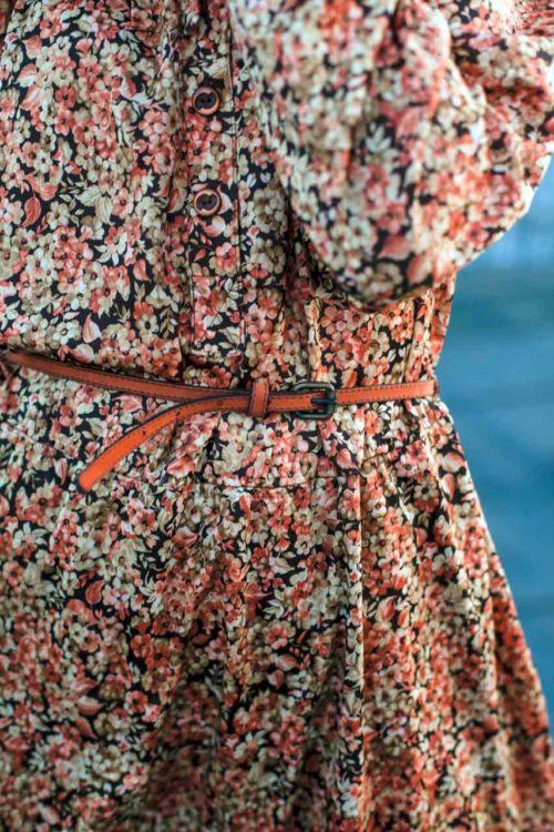 Kleid mit Blumenmuster Vintage