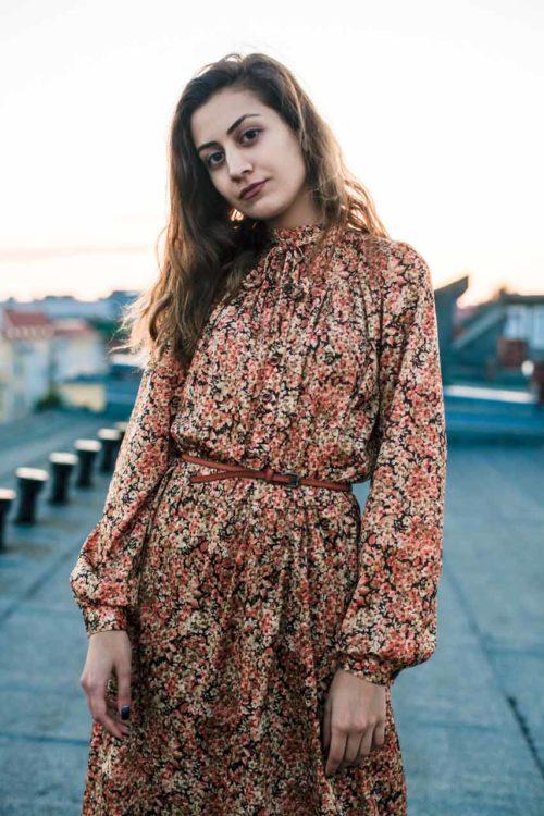 Vintage Kleid langarm