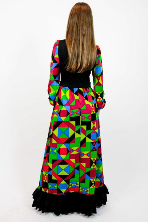 Vintage Kleid mit Muster