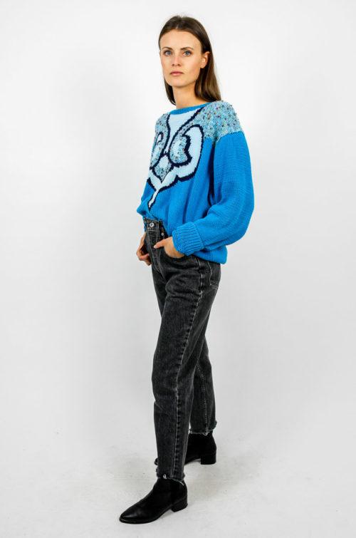 Pullover muster blau