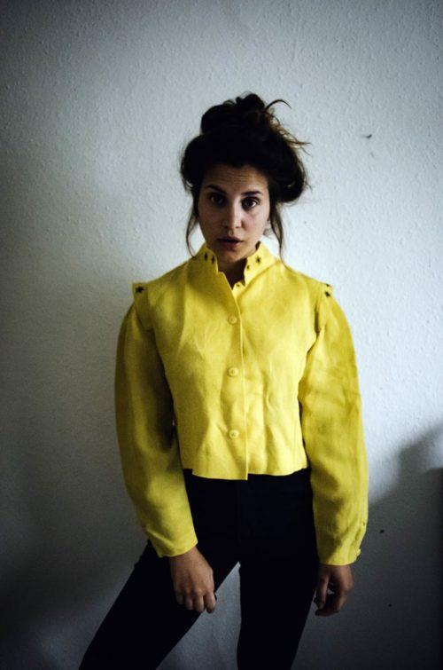 Vintage Leinenjacke gelb