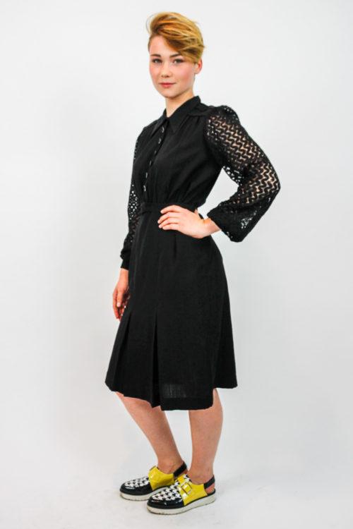 dress black midi