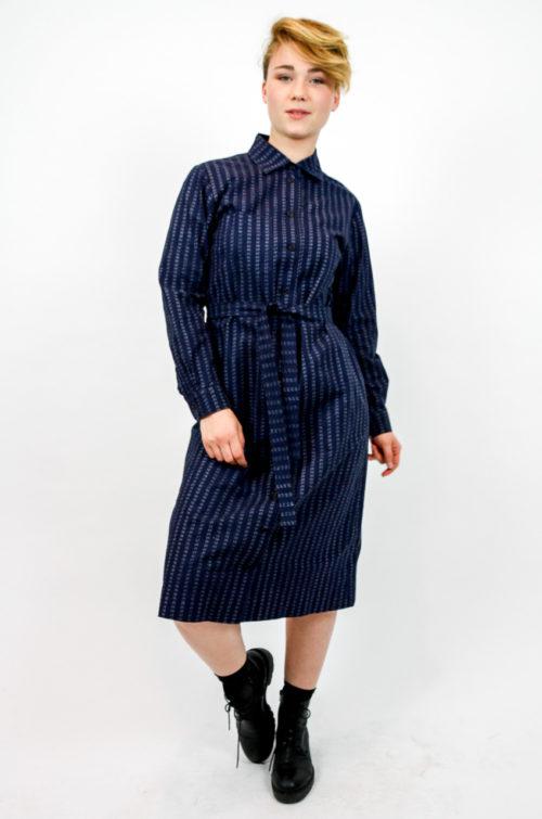 kleid dunkelblau vintage