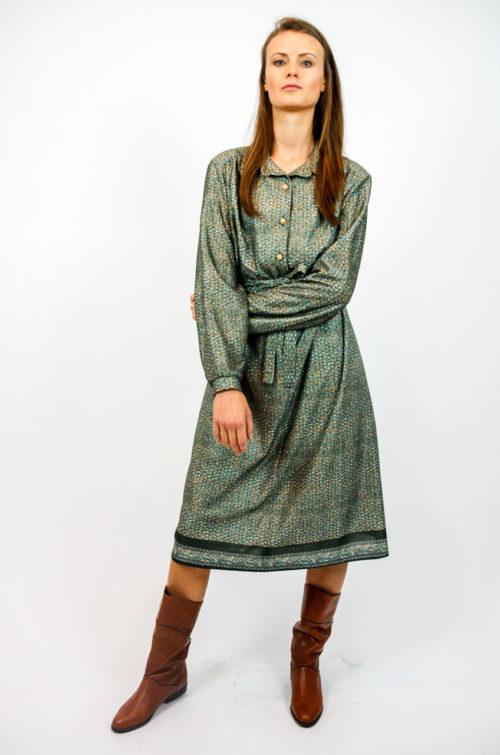 kleid khaki langarm