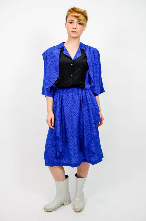 kleid maxi blau
