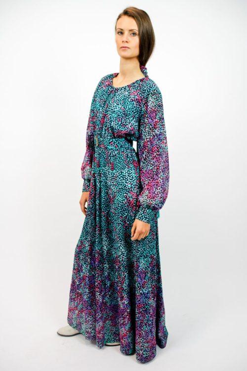 kleid vintage bunt