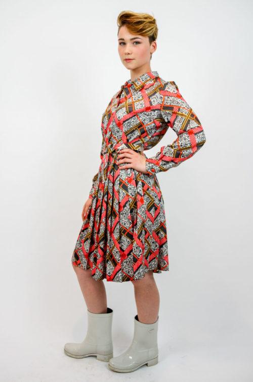 kleid vintage faltenrock