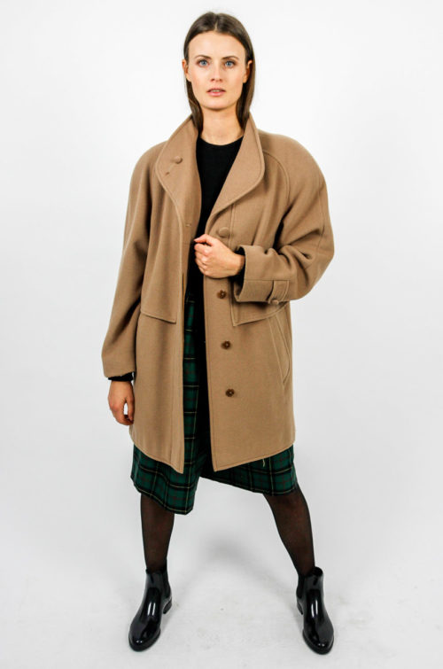 mantel wolle braun