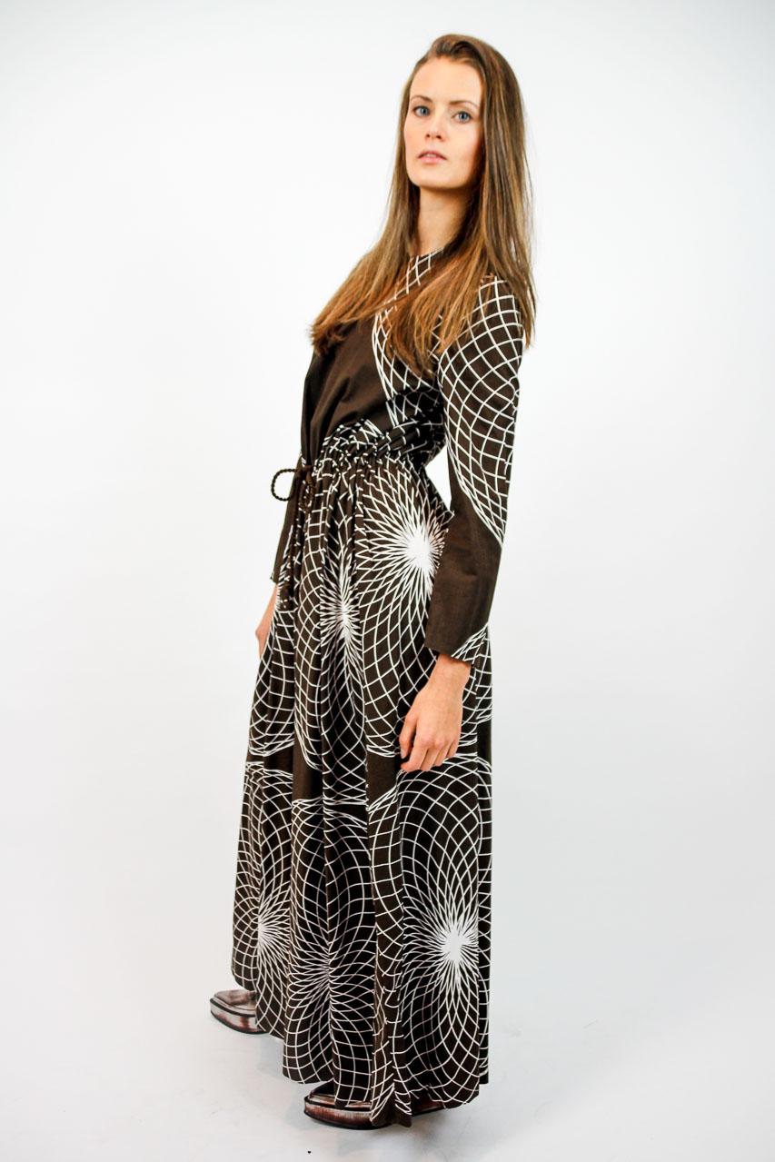 Kleid maxi braun