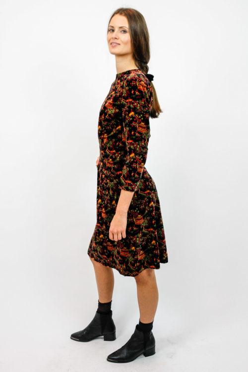 samt kleid vintage