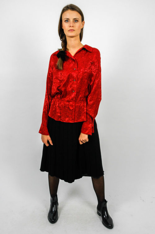 vintage blouse red