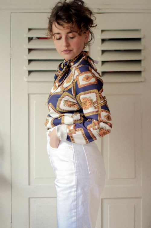 vintage karo bluse
