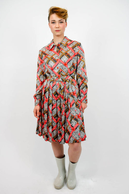 vintage kleid gemustert