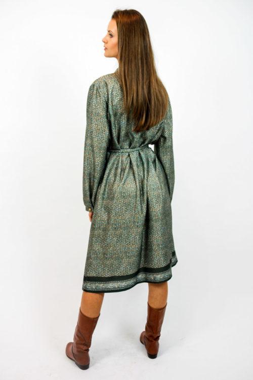 vintagekleid khaki muster