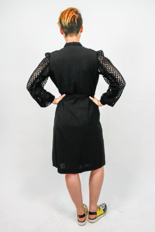 vintagekleid schwarz spitze