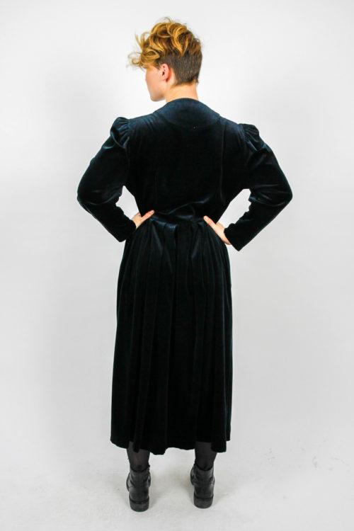 Kleid schwarz silber