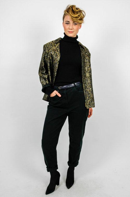 abendgarderobe gold blazer