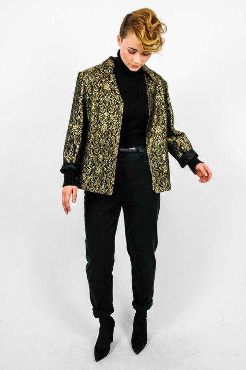 blazer schwarz gold