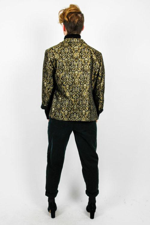 gold schwarze jacke