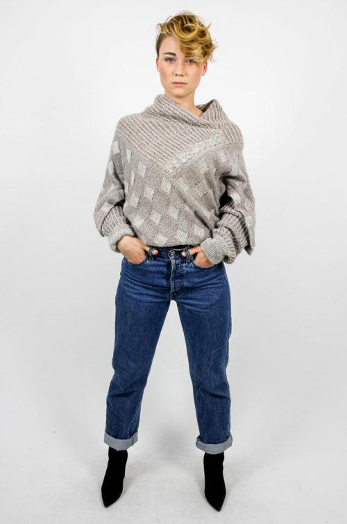 pullover bogner grau mit beige