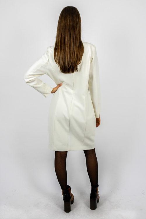 vintage kleid cremeweiß