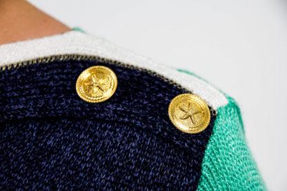 vintage pullikleid blaugrün