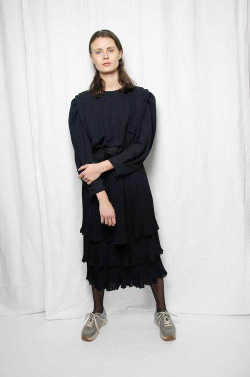 Vintage schwarzes Kleid