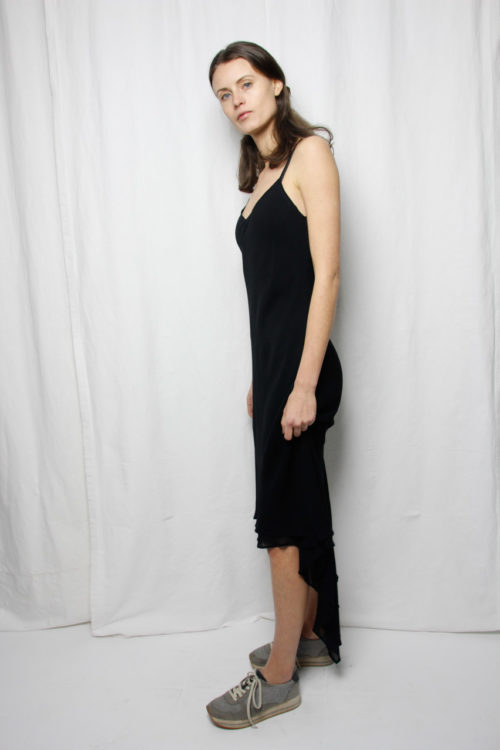 blackdress secondhand vokuhila