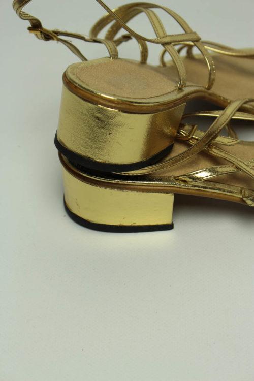 gold schuhe trend