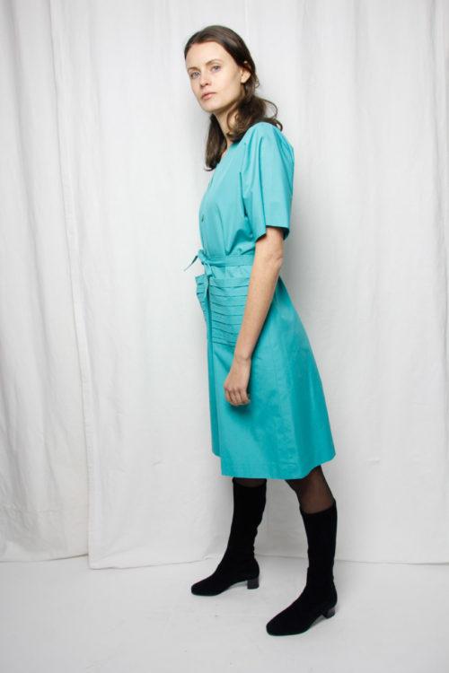 nachhaltig grünblau kurzkleid