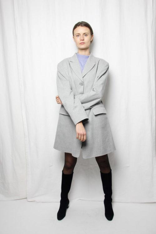 vintage blazer grau