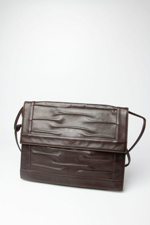 vintage handtasche dunkelbraun