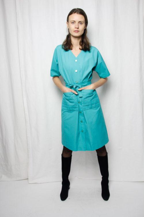 vintage kleid knopfleiste