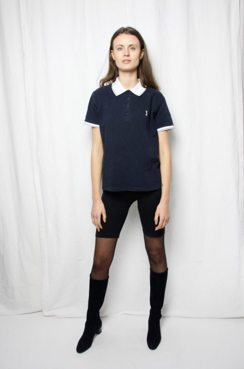 vintage shirt dunkelblau