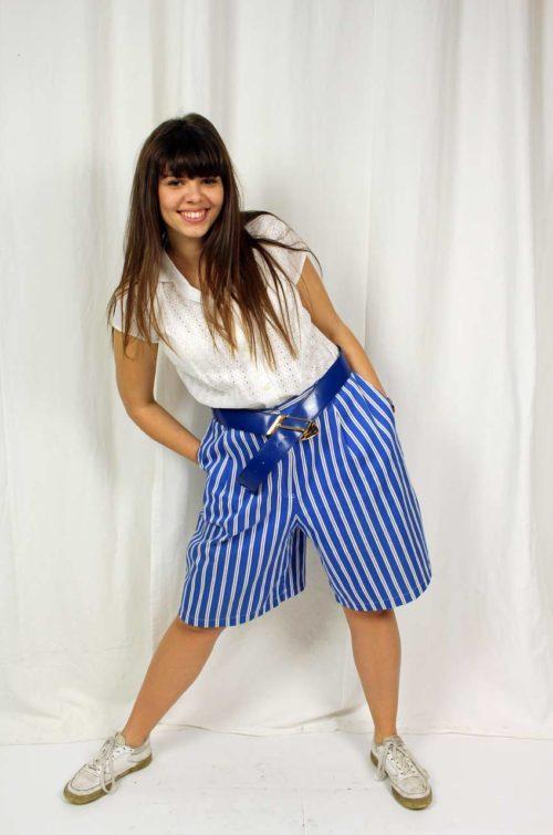 Vintage Culotte gestreift
