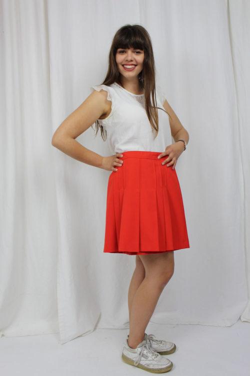 Faltenrock mini rot Online kaufen