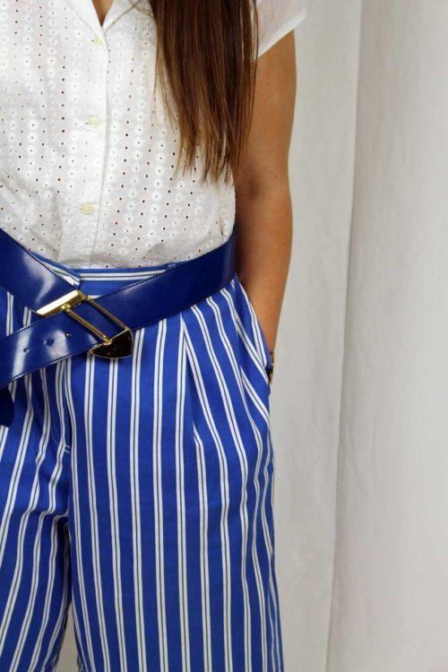 Hosenrock blau weiß