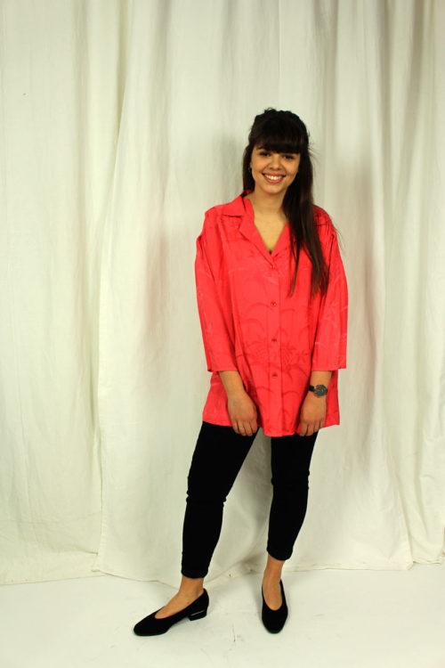 Jacke pink mit Palmenmuster