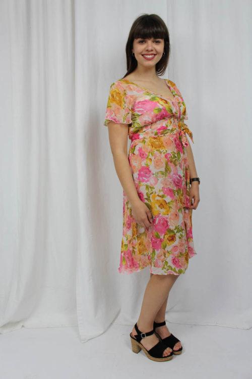 Kleid mit Blumen Second Hand