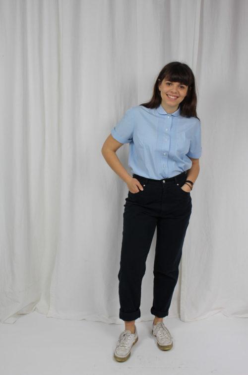 Vintage Bluse hellblau