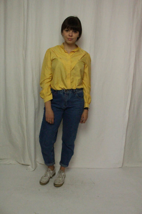 Vintage Bluse langarm gelb