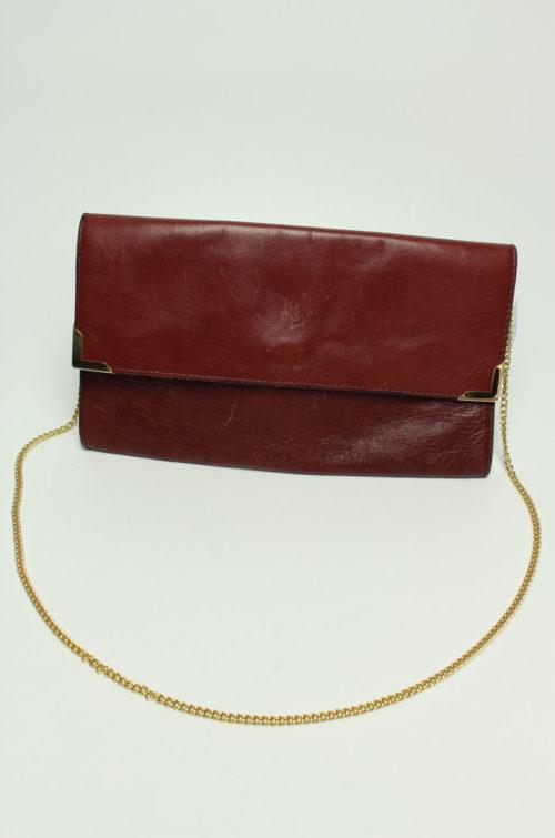 Vintage Clutch braun mit Goldkette