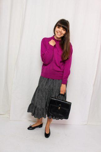 Vintage Pullover fuchsia