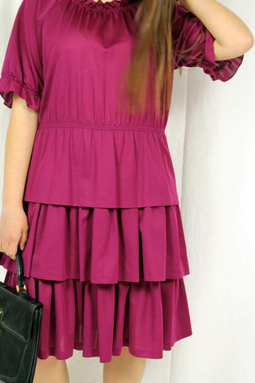 dress pink retro