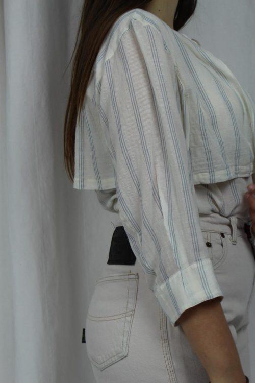 gestreifte Bluse mit Koller