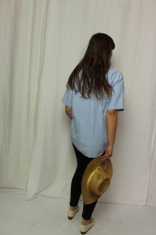jeans tunika rosa weiß