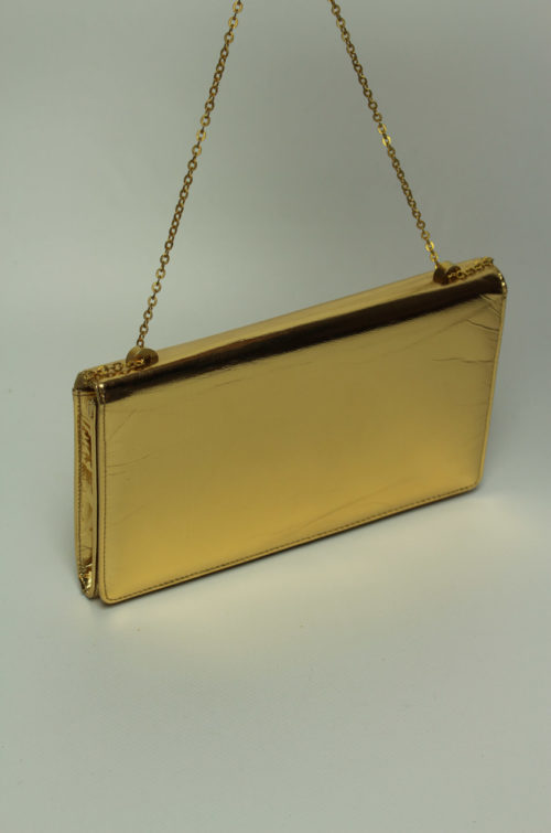 vintage clutch gold