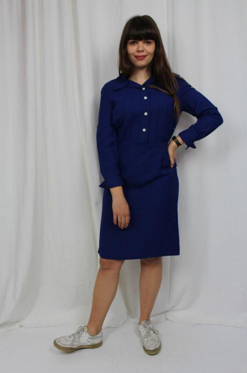 vintage indigo Kleid