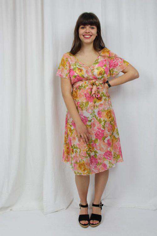 vintage kleid blumen